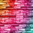 Cracked vintage brick wall - Photo