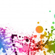 colorful paint splashes background — Stock Photo