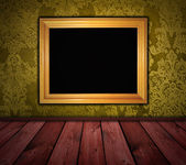 Dark yellow vintage room — Foto de Stock