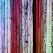 Colored rusty wooden background — Stock Photo
