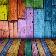 Colorful vintage wooden background - Stock Photo