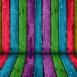 Stock Photo: Colorful vintage wooden interior