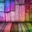 Colorful vintage wooden background — Photo