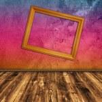 Grunge multicolored interior — Stock Photo