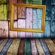 Colorful vintage wooden background — Stock Photo #1659997