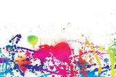 Colorful piant splashes background — Stock Photo