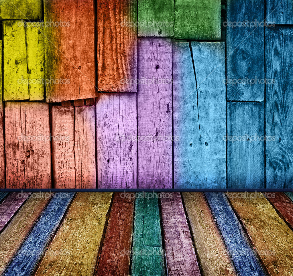 Colorful vintage wooden background — Stock Photo #1655487