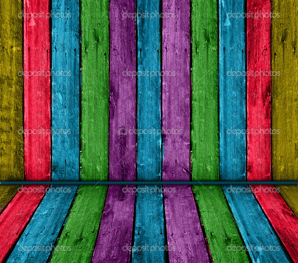 Colorful Vintage Wooden Interior Stock Photo Photography