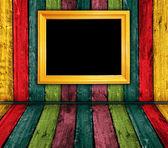 Kleurrijke vintage houten interieur — Stockfoto