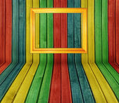 Colorful wooden interior — Stock Photo