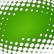 Green and whte dots background - Stock Photo