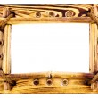 Vintage wooden bamboo frame — Stock Photo