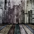 Stock Photo: Dirty dark vintage wooden room