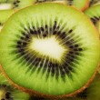 Creative kiwi background — Stock Photo