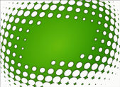 Green and whte dots background — Stock Photo
