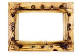 Beatiful vintage bamboo frame — Stock Photo