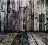 Sala de madera vintage oscuro sucio — Foto de Stock
