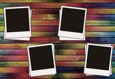 Barevné dřevěné pozadí — Stock fotografie