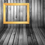 Black and white vintage wooden interior — Stock Photo