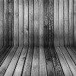 Black and white vintage wooden interior - Foto Stock
