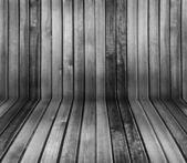 Noir et blanc intérieur en bois vintage — Photo