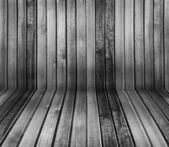 Zwart-wit vintage houten interieur — Stockfoto