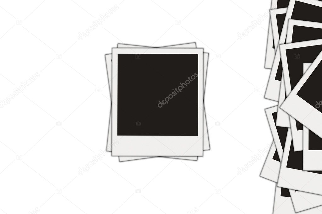 Blank photos isolated over white — Stock Photo #1912900