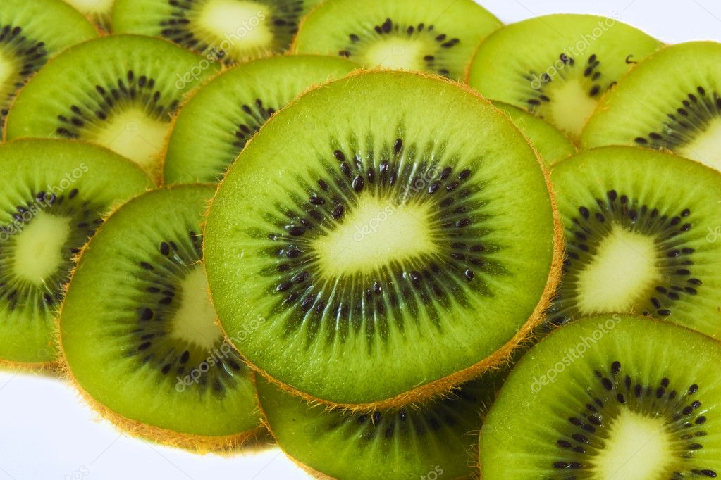 Fresh juicy kiwi background  Stock Photo #2055500
