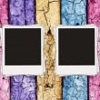 Vintage multicolored wooden wall — Stock Photo