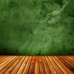 Grunge green interior — Stock Photo