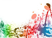 Kleurrijke verf spatten achtergrond — Stockfoto
