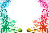 Colorful paint splashes background — Stockfoto