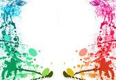 éclaboussures de peinture colorée fond — Photo