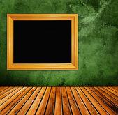 Grunge groen interieur — Stockfoto