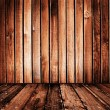 Vintage wooden interior - Stock Photo