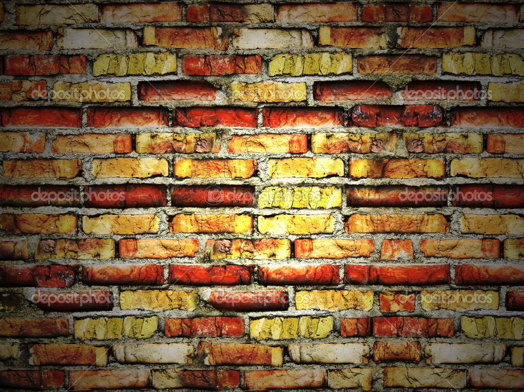Cracked vintage brick wall — Stock Photo #2215064