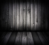 Black and white wooden room — Stock Photo