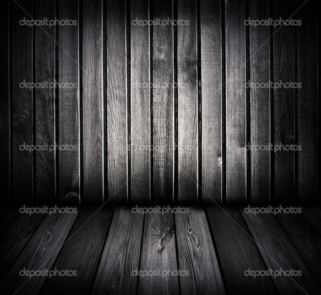 Black and white wooden room                   — Stock Photo #2296684