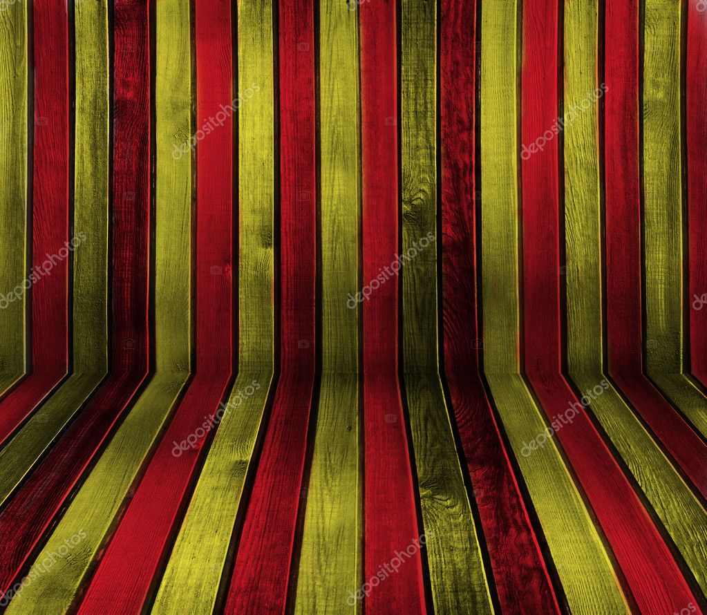 Creative red and yellow sriped wooden background — Stock Photo #2401618