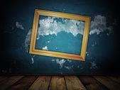 винтаж страшный синий фон — Стоковое фото