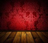 Scherpe rode vintage interieur — Stockfoto