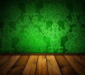 Scherpe groene vintage interio — Stockfoto