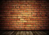 ビンテージ レンガ壁の背景 — ストック写真