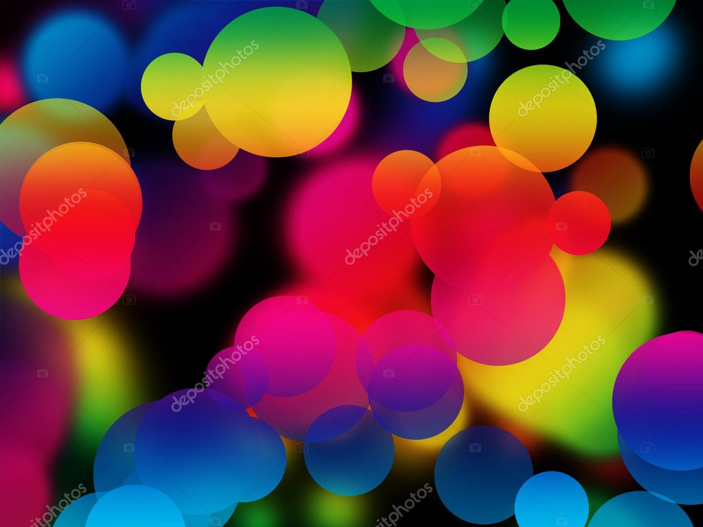 Colorful multicolored bubbles abstract background — Stock Photo #2554583