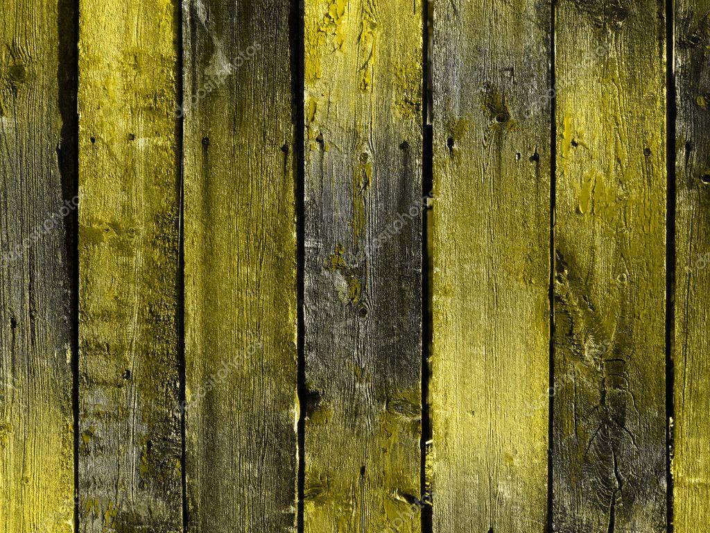 明亮黄色复古木墙— photo