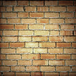 Brick and jeans background — Stock Photo