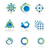коллекция 9 элементов дизайна — Cтоковый вектор