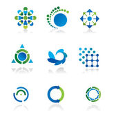 Colección de 9 elementos de diseño — Vector de stock