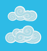 Vector illustration of beautiful clouds — Stock Vector