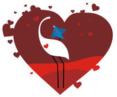 Valentine card birds in love — Vector de stock